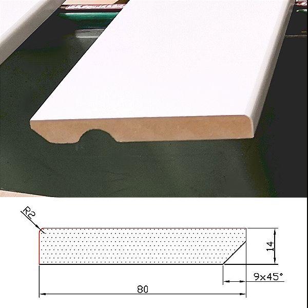 Rodapie 90×14 c/v Lacado Blanco Standard